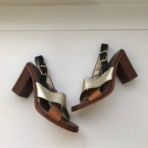 Sam Edelman Shoes - Sam Edelman Ivy Block Heel Criss Cross Sandal 9.5